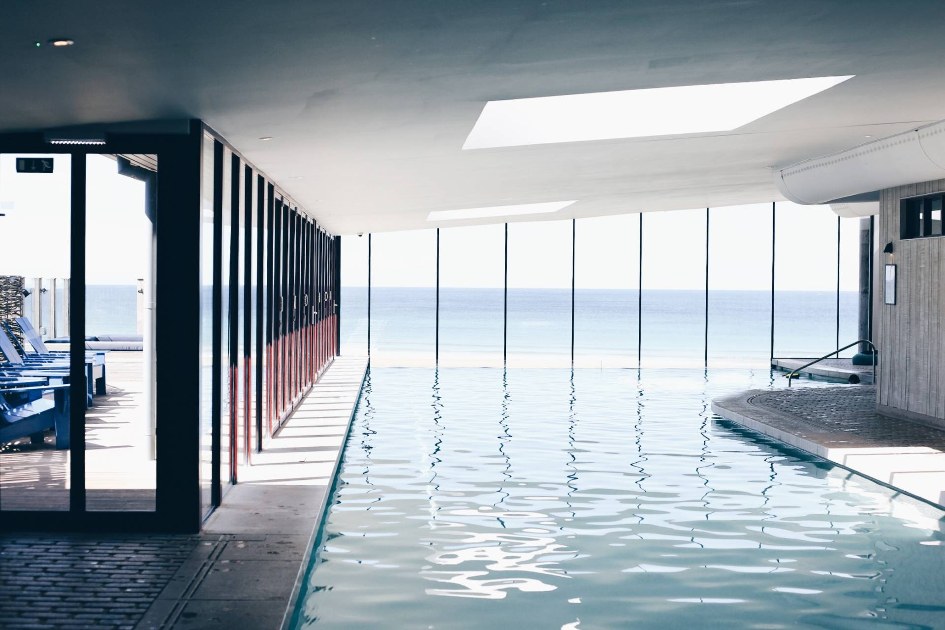 Indoor pool at the hotel Watergate Bay, Cornwall