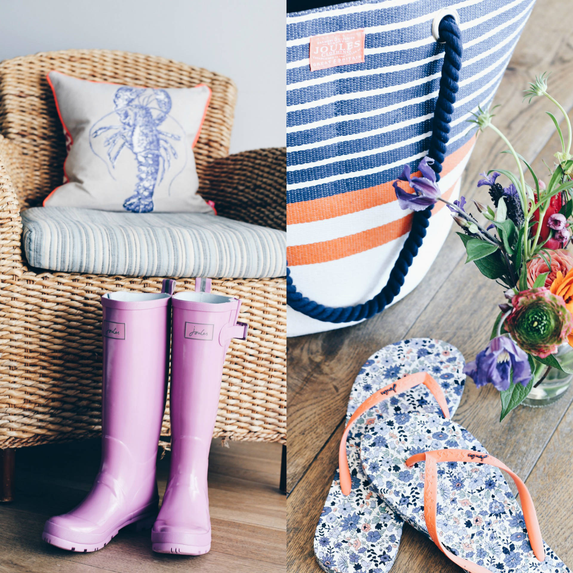 Dreaming of Chanel wearing Joules SS16 wellies and flip-flops in Watergate Bay, Cornwall