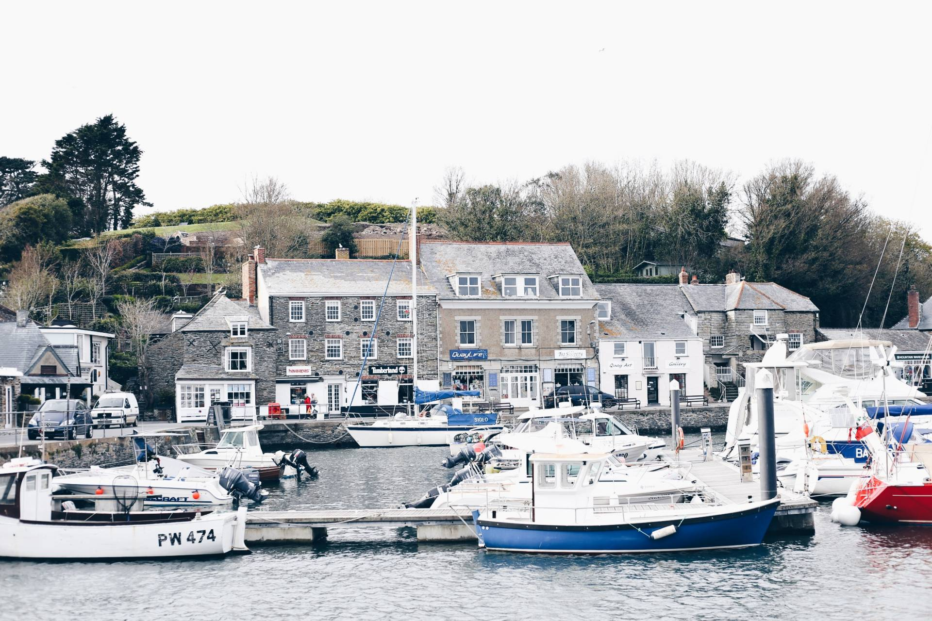 Padstow town near Watergate Bay, Cornwall