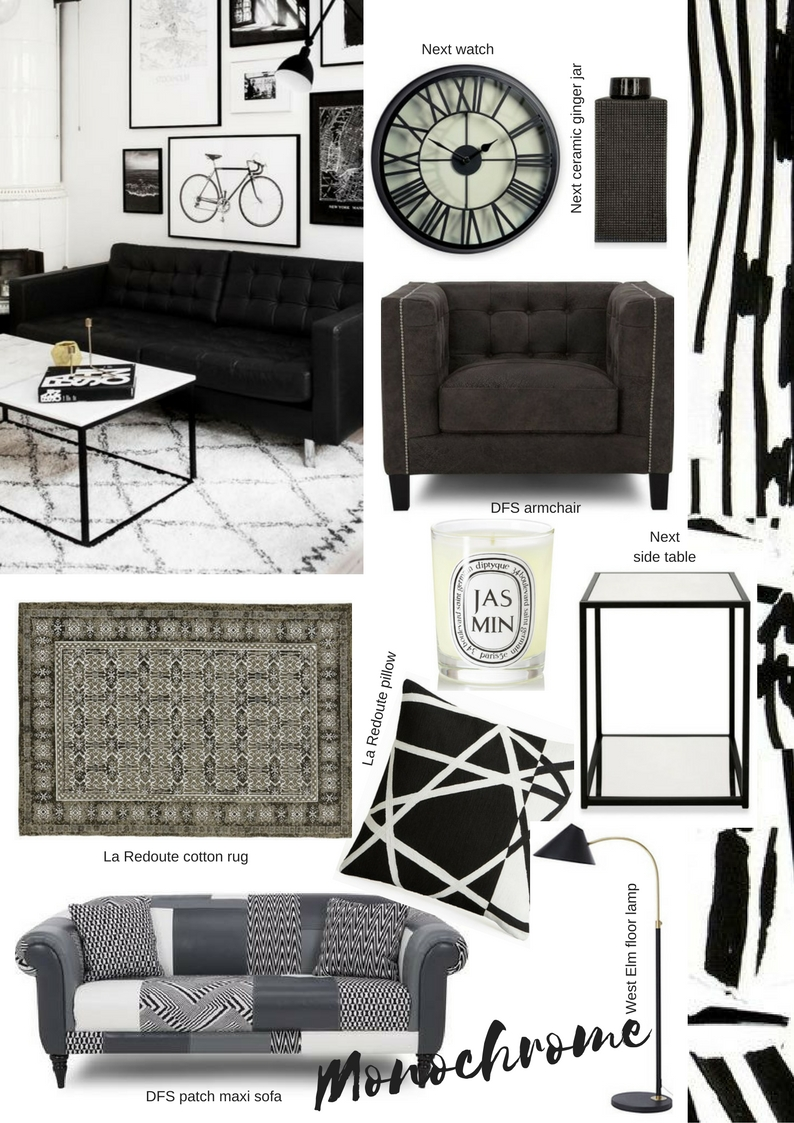 Get the look - Monochrome home decor